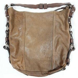 Handbags - Tano Leather Hobo Bucket Handbag